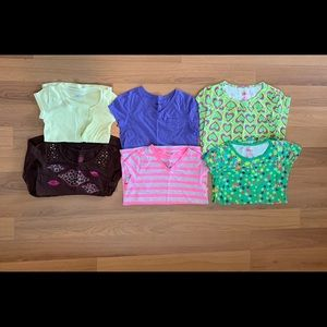 Bundle of 6 size L (10-12) girl's tops.